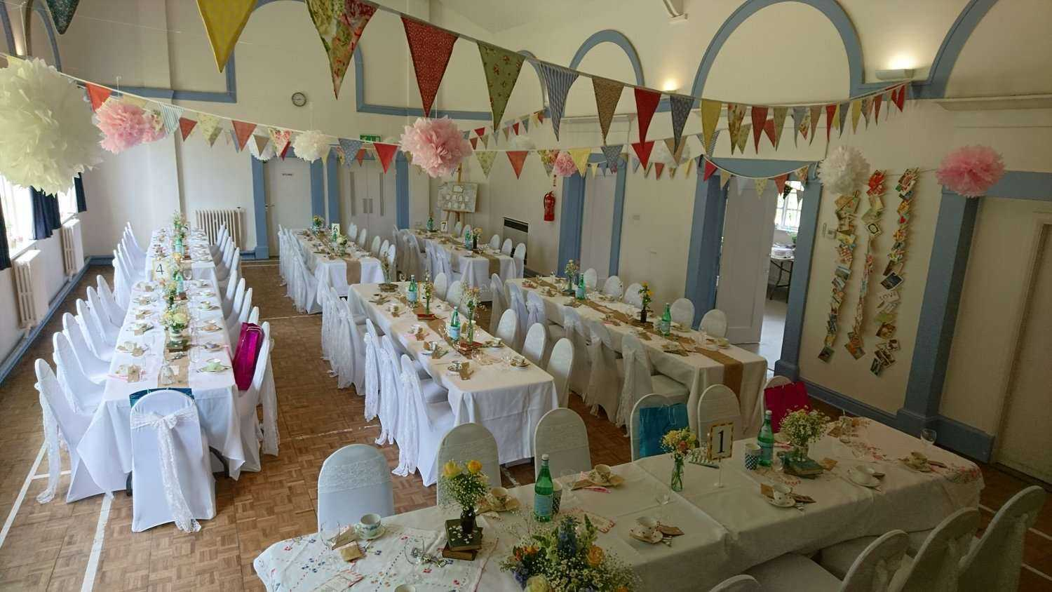 Wedding receptions gladstone village hall the hall can accommodate up to 80 guests for a sit down formal reception increasing to a strict fire regulation maximum of 120 for an evening celebration junglespirit Choice Image